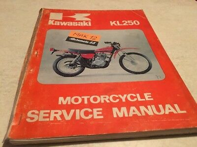Kawasaki KL250 KL 250 manuel revue technique atelier workshop manual