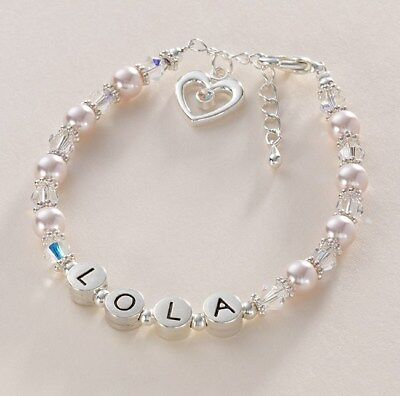 Presents for Bridesmaids, Flower Girls, Personalised Name Bracelet, Many Colours