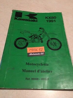 Kawasaki KX80 KX 80 1991 S1 V1 manuel revue technique atelier workshop manual