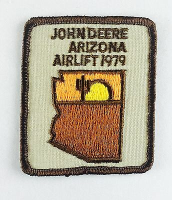 """VINTAGE*JOHN DEERE Arizona Airlift 1979* 3"""" X 2 1/2""""Embroidered Sew On Patch"""