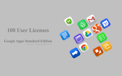 Domain name with 100 users for G Suite Standard Edition
