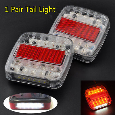 Trailer Light Red&Amber LED Stop/Turn/Tail Truck Squre Waterproof Marine Sealed