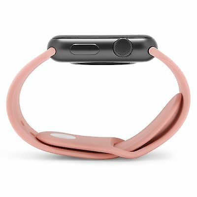 ROSE PINK Silicone Sport Band Strap For Apple Watch iWatch 38mm 42mm 40mm 44mm