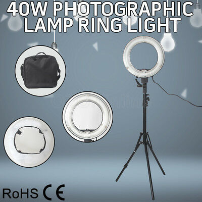 New 40W  Ring Light Lamp With Diffuser Light Stand Holder with Light adjustable