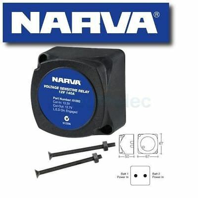 Narva 61092Bl Voltage Sensitive Relay 12V Vsr Isolator 140A Dual Battery System