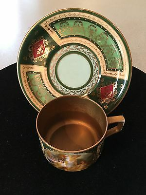 Vintage Thun T K Czechoslovakia Small Tea Cup And Saucer Brass