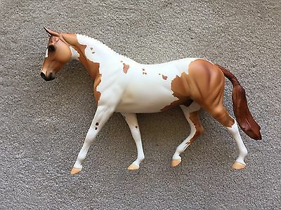 Breyer Peter Stone Horse English Braided Pony Berkeley Red Dun Pinto Paint Matte