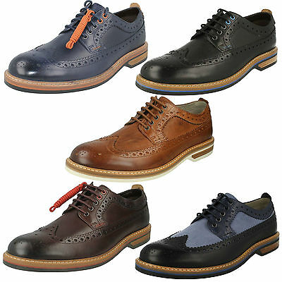 Mens Clarks Leather Lace Up Full Brogue Formal Office Wedding Shoes Pitney  Limit 23f6461f2b9