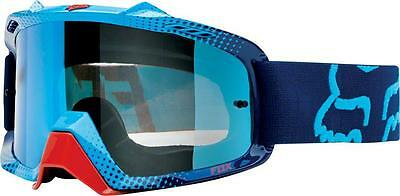 Fox Air Space 360 Race Blue Chrome Lens Red White Adult Goggles Mx Dirtbike