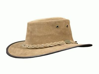 Barmah Foldaway Suede Leather Hat- Hickory