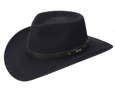 Akubra Snowy River Felt Hat - Black