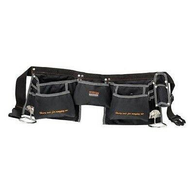 10251 Polyester Double Tool Bag Holder Pouch Belt 12 Pockets + 2 Hammer Loops
