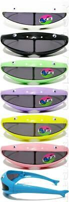 Lot of 12 Pair Kids Color Robot Mask With Eyes Sunglasses Retro Smoke SNL