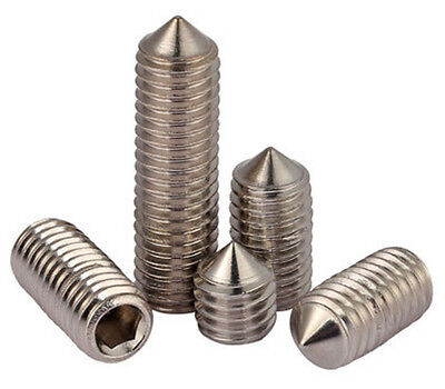 304 Stainless steel M8 M10 Cone Point HEX Socket GRUB Set Screw