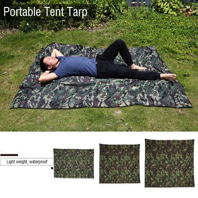 Anti-UV Tarp All Weather Outdoor Tent Canopy Shelter Cover Waterproof Camping WY