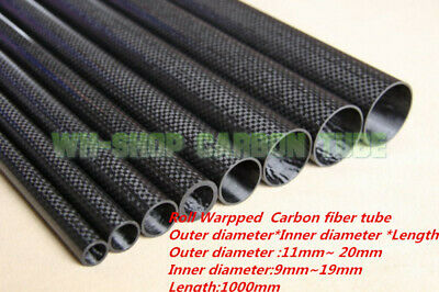 OD 27mm X ID 25mm 3K Roll Wrapped Carbon Fiber Tubing parts for RC Model 27*25 H