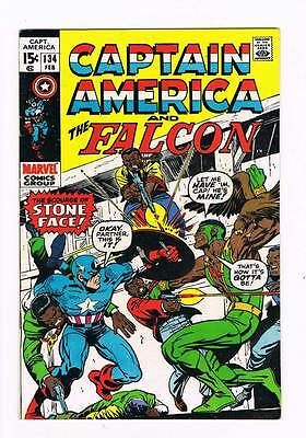 Captain America # 134  Stone Face grade 8.0 scarce book !!