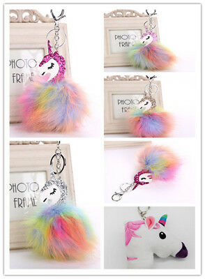 Unicorn Fox Key chain Key ring Key Chain Ring Bag Charm Pendant Hot Accessories