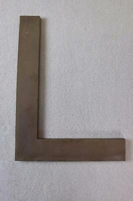 """Vintage~14"""" x 11"""" Cast Brass Letter Sign~Industrial~Tarnished~Aged~""""L""""~2 Avail"""