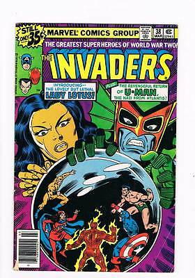 Invaders # 38 U-Man Comes to Town ! grade - 3.5 scarce book !!