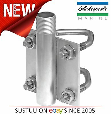 Shakespeare AHDVM Stainless Steel Heavy Duty Vertical Antenna Mount U-bolts+Nuts