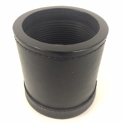 Genuine Leather Dice Cup Box Professional Quality New Ribbed Inside High Quality