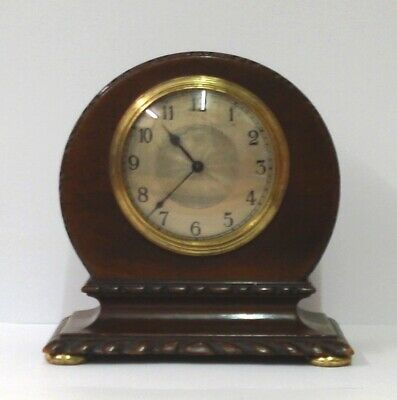 French 8 Day Mahogany Mantel Clock