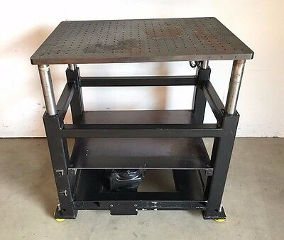 "Industrial Syncrogear Electric Motorized Lift Table Station / Stage, 35""x26"""