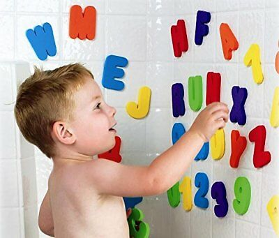 Bath Toys Munchkin Letters Numbers Entertainment Enjoy Child Kid Toddler 36 Cnt