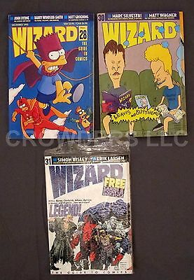 Wizard Comics Magazine #28 December 1993 Simpson #30 February #31 March Legends