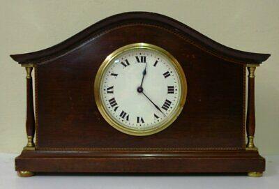 Buren 8 Day Mahogany Cased Mantel Clock