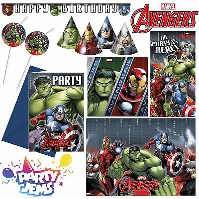 Marvel Avengers Power Party Children's Birthday Party Decorations Tableware