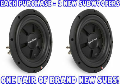"(2) ROCKFORD FOSGATE 800W 10"" Prime Stage 2 Shallow Car Subwoofers 