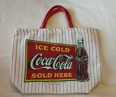 1990 The Coca-Cola Company mini cloth tote bag