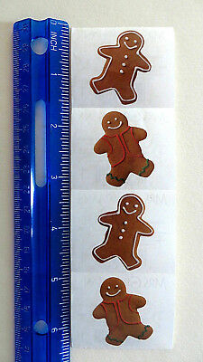 Mrs Grossman *GINGERBREAD COOKIE, Photoessence* Strip With 4 Cookie Stickers