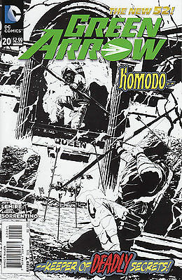GREEN ARROW 20 B&W 1:25 VARIANT...NM-...2013...New 52...Jeff Lemire...Bargain!