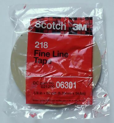 3M Scotch Fine Line Tape 06301  (6,35mm x 54,8m)  Schablonenband Striping Tape