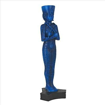 Queen Shabti Dolls Egyptian Funerary Burial Figurine Glazed Blue Tomb Statue