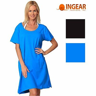 f0f726209cb4c INGEAR WOMENS SHORT T-Shirt Dress Swim Cover Up - $22.99 | PicClick