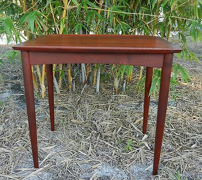 Mid Century Modern Danish Teak Wood Side Table Made in Demark #60 Winged Edges