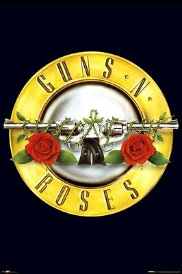GUNS N' ROSES ~ CIRCLE LOGO 24x36 Music Poster Rock Axl Rose And NEW/ROLLED!
