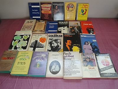 Drama Play Script Theater Books - Paperback Book Lot of 23