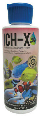 HIKARI - Aquarium Solutions Ich-X Saltwater Treatment - 4 fl. oz. (118 ml)