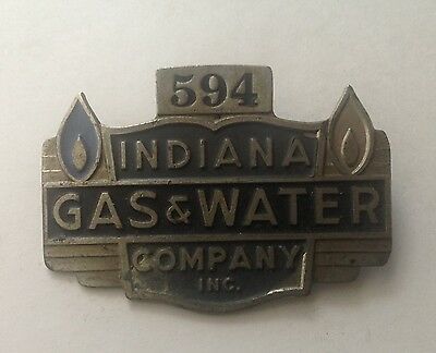 Obsolete Indiana Gas & Water Company Badge