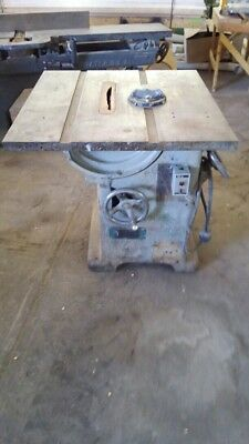 "OLIVER HEAVY DUTY 14"" TABLE SAW Vintage Good Condition Wood Working"