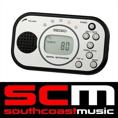 Digital Metronome Seiko Dm-100 Tap-In Function, Music Stand Slot, Volume Control