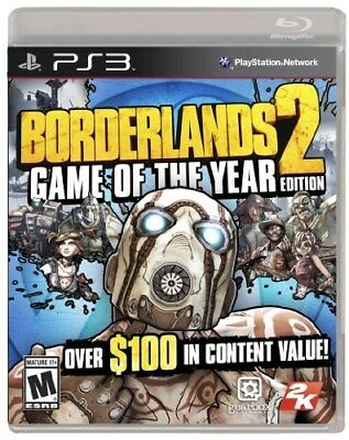 Playstation 3 Ps3 Game Borderlands 2 Game Of The Year Edition Goty New Sealed