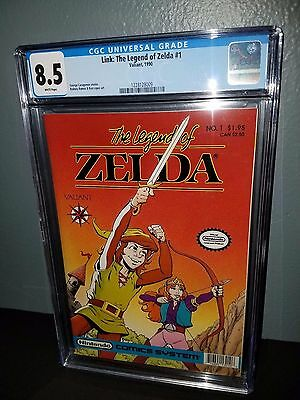 Valiant Comics The Legend Of Zelda #1 Nm 1990 Cgc 8.5 White Pages Nintendo