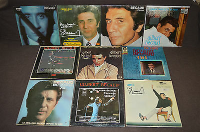GILBERT BECAUD Gil 10 LP RECORD ALBUMS LOT COLLECTION French Pop Music OLYMPIA+