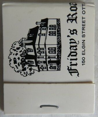 Vintage Friday's Roast Beef House Ottawa Matchbook                   (Inv14345)